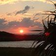 スギらビーチの夕陽