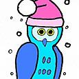雪とフクロウ♂
